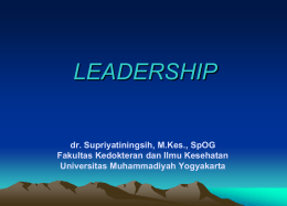 leadership - UMY Repository - Universitas Muhammadiyah