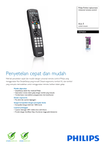SRP4004/86 Philips Universal remote control