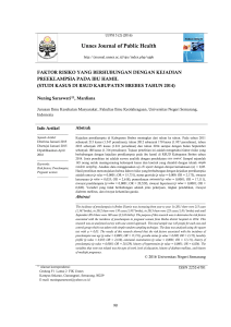 Unnes Journal of Public Health