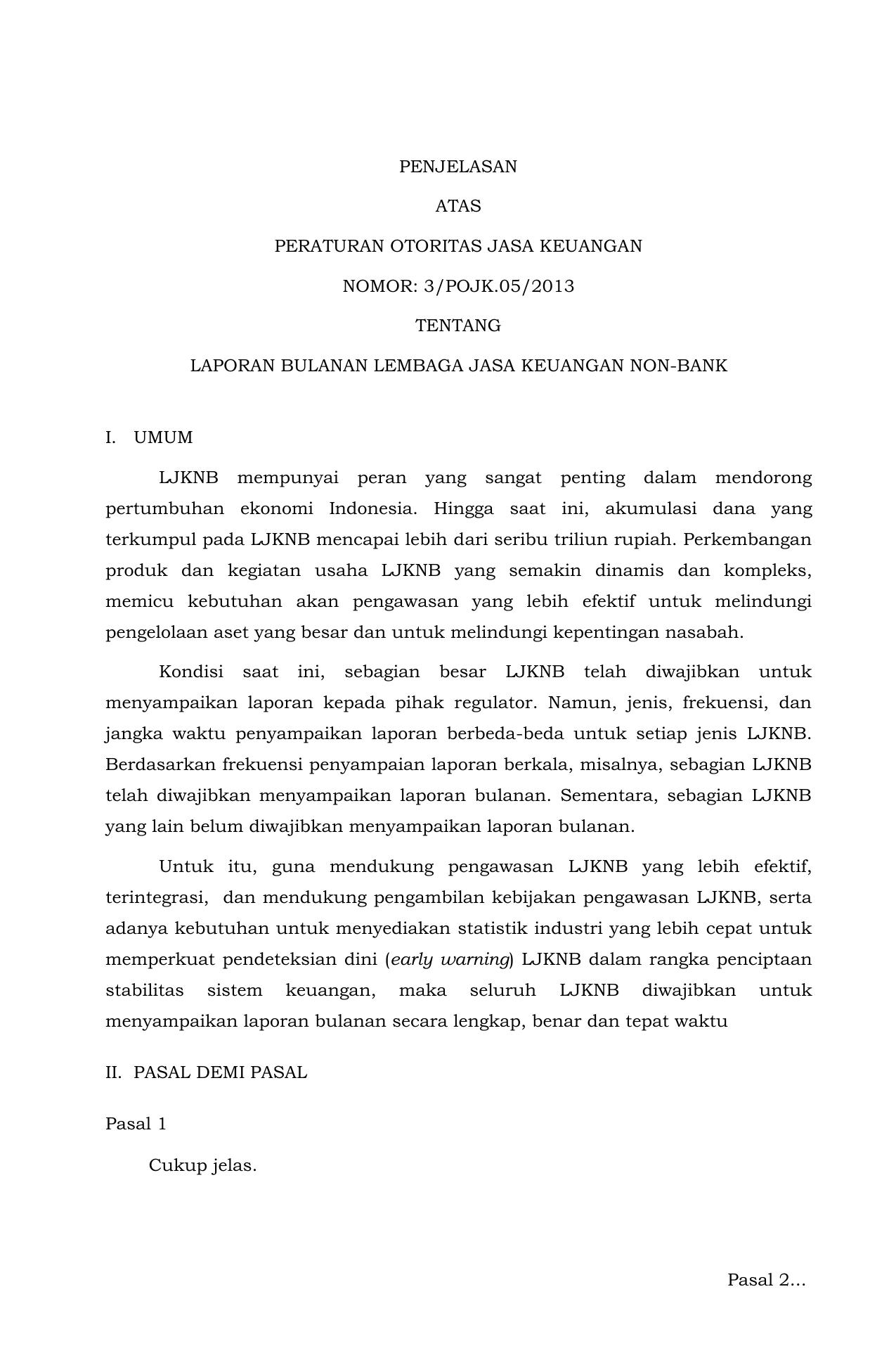 Https Www Ojk Go Id Id Regulasi Documents Pages Pelaporan Bank Umum Melalui Sistem Pelaporan Otoritas Jasa Keuangan Ringkasan 20pojk 2012 2019 Pdf