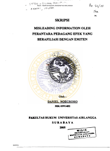 SKRIPSI MISLEADING INFORMATION OLEH PERANTARA