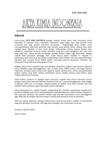 The Official Journal of the Indonesian Chemical Society Editorial
