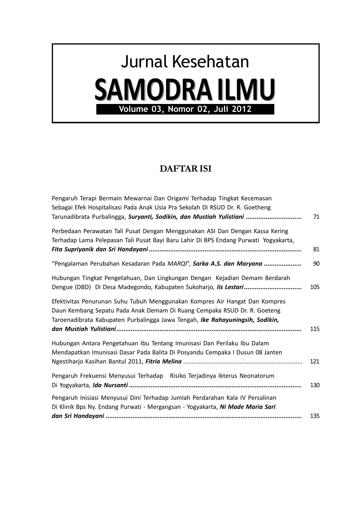 Jurnal Edisi 6d Fakultas MIPA Dan Kesehatan