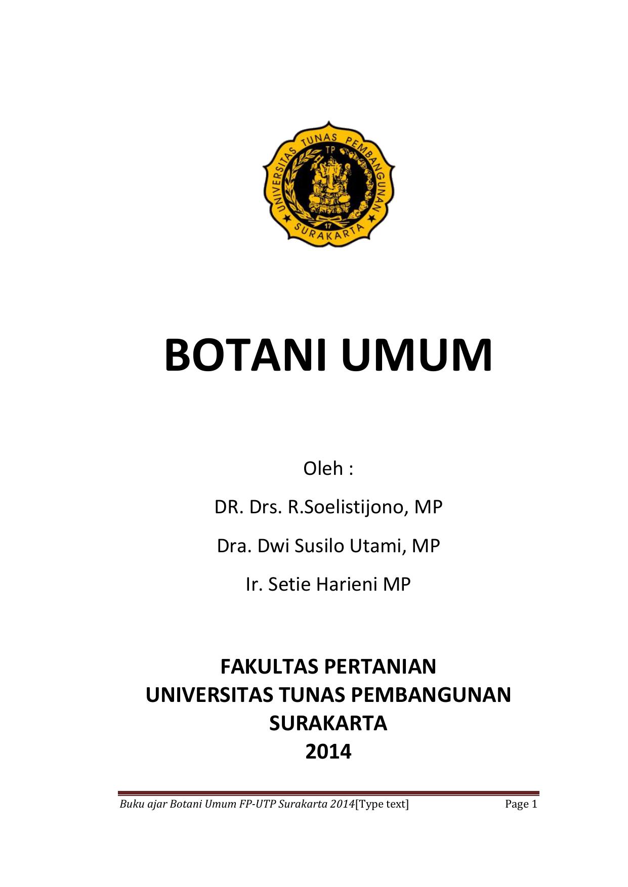 Botani umum universitas tunas pembangunan ccuart Choice Image