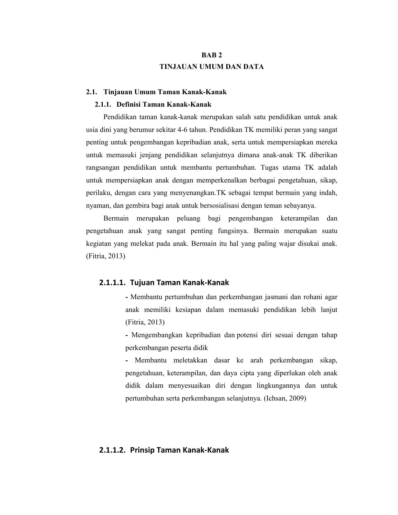 Tujuan Taman Kanak Kanak 2 1 1 2 Prinsip