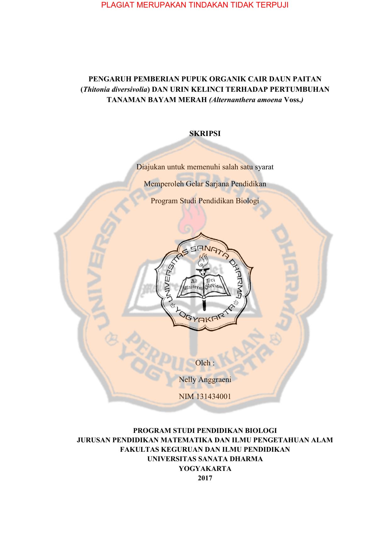 Pupuk Organik Cair Usd Repository