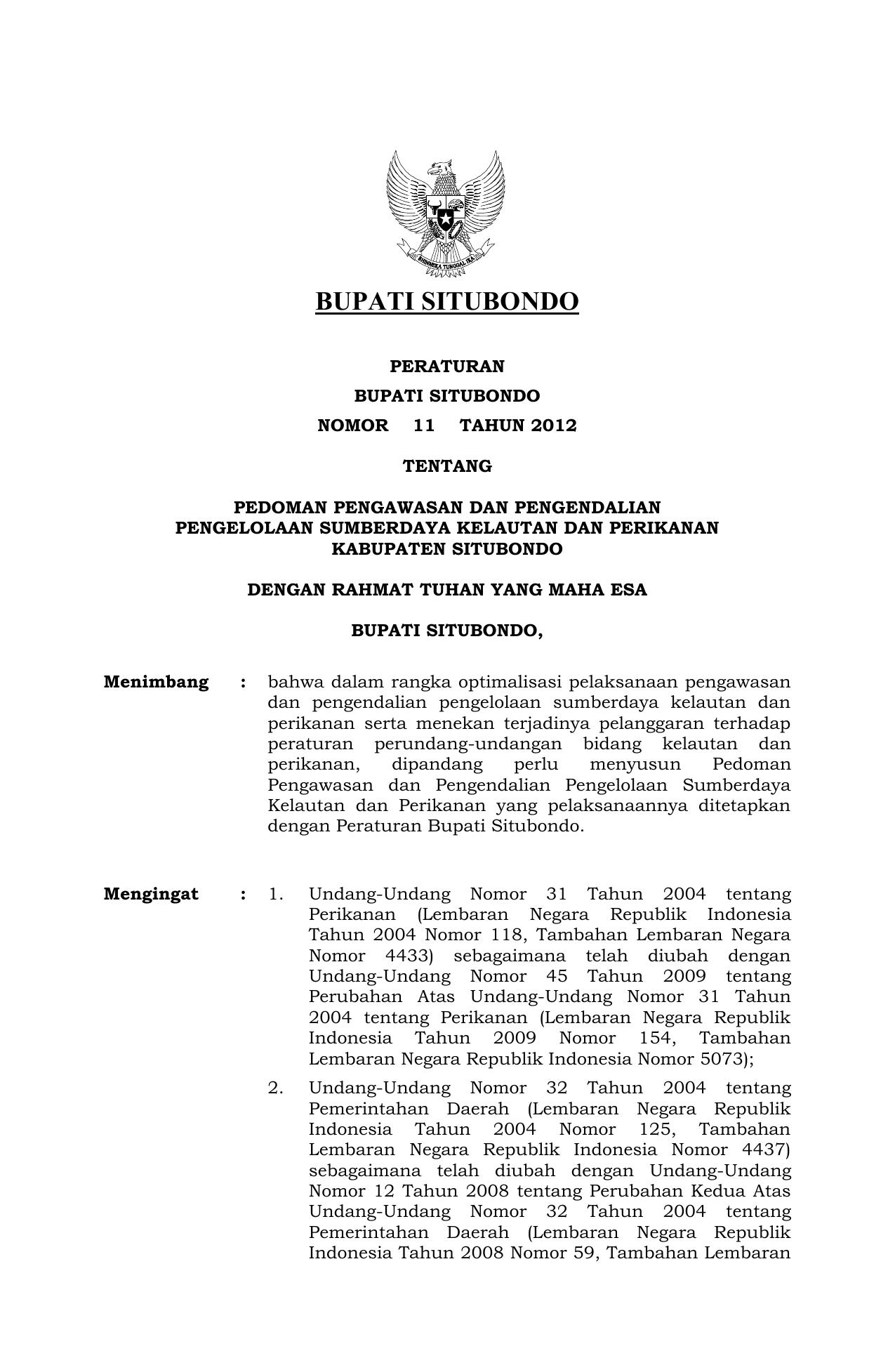 Surat Keputusan Jdih Kabupaten Situbondo