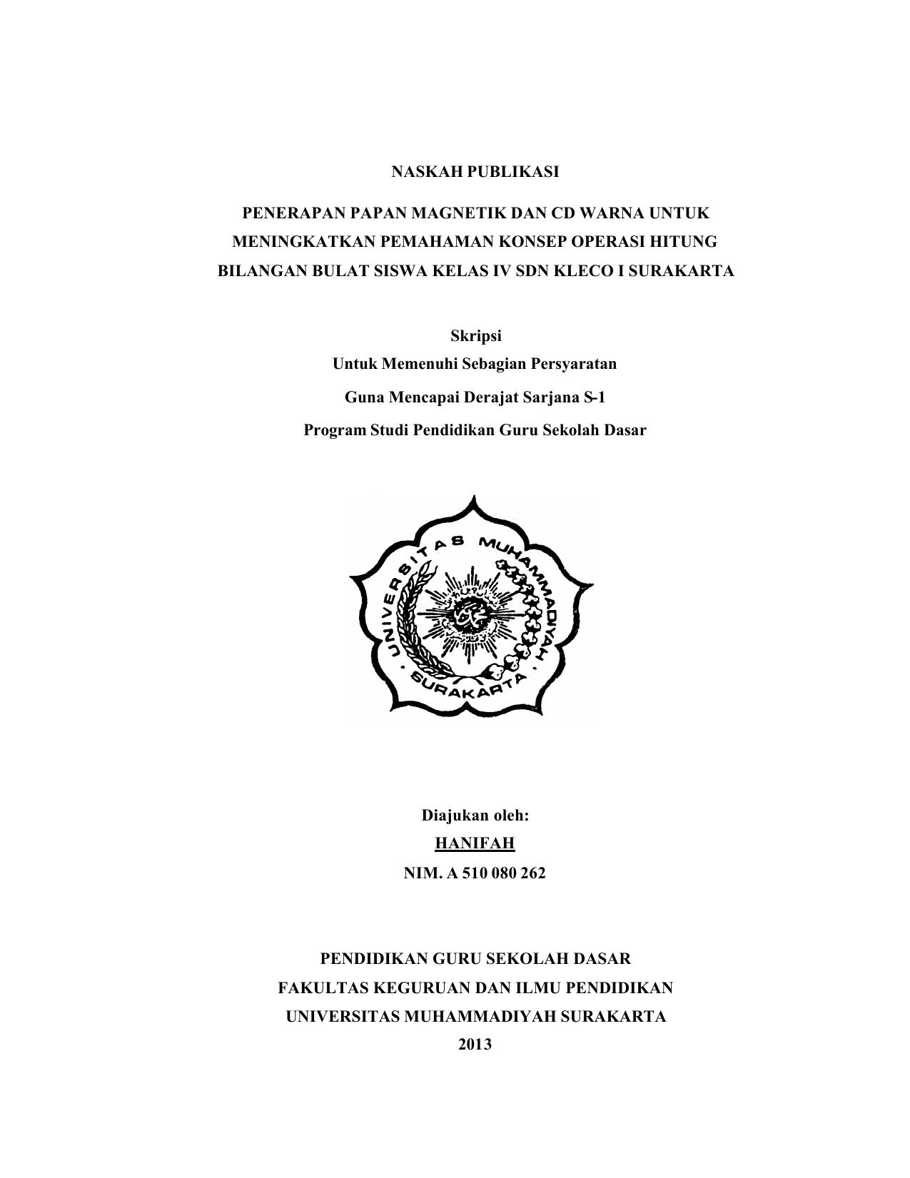 19 Naskah Publikasi Docx Universitas Muhammadiyah Surakarta