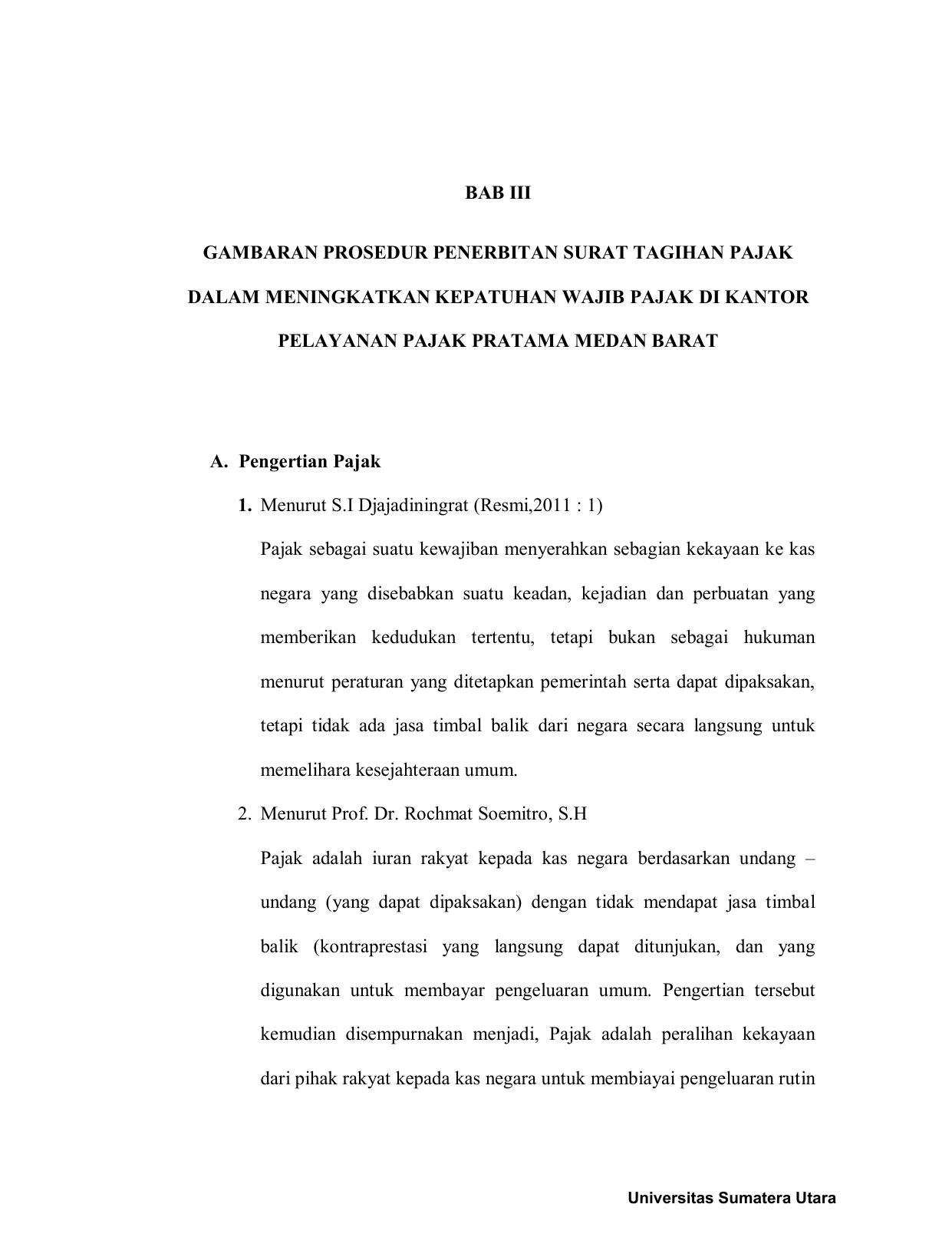 Bab Iii Gambaran Prosedur Penerbitan Surat Tagihan Pajak Dalam