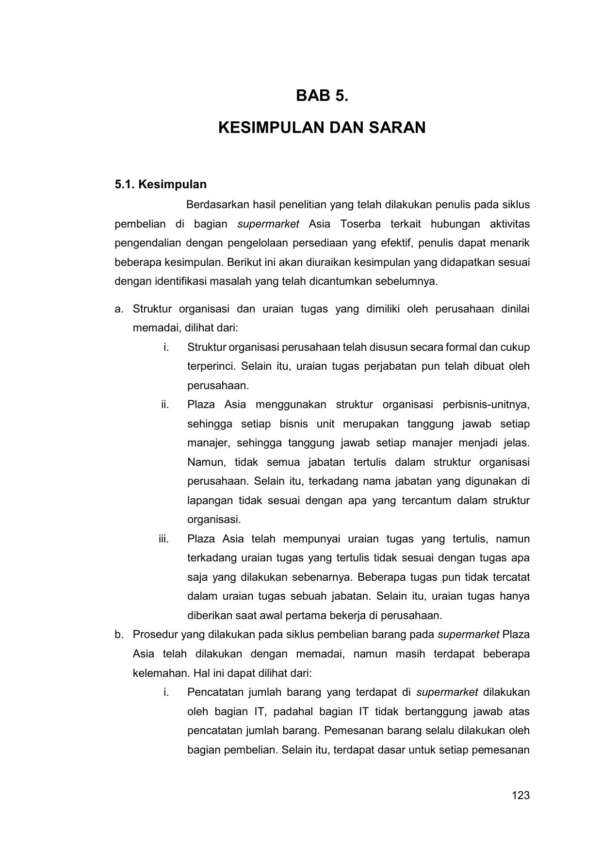 Bab 5 Kesimpulan Dan Saran Unpar Institutional Repository