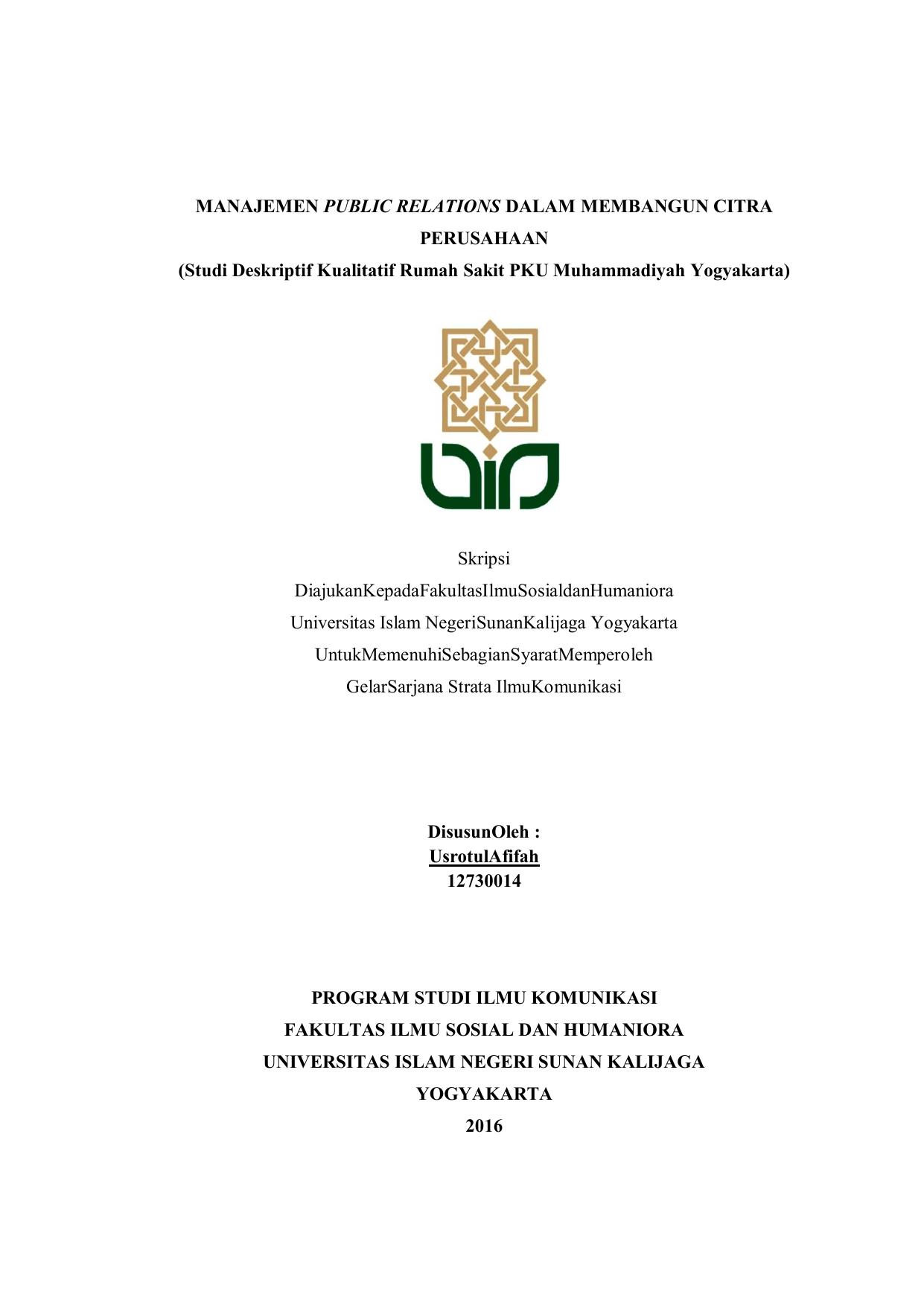 Manajemen Public Relations Dalam Membangun Citra