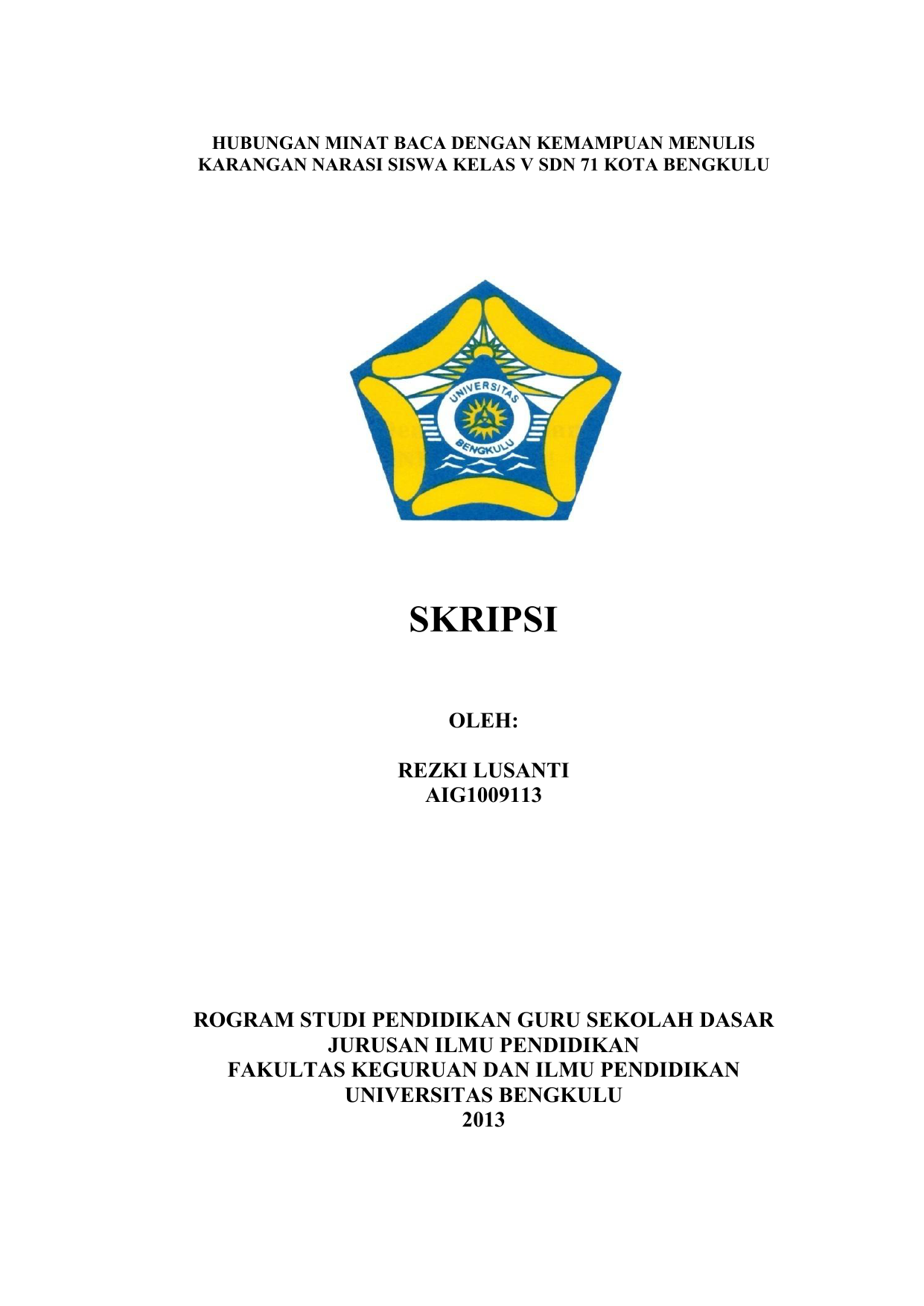 SKRIPSI UNIB Scholar Repository