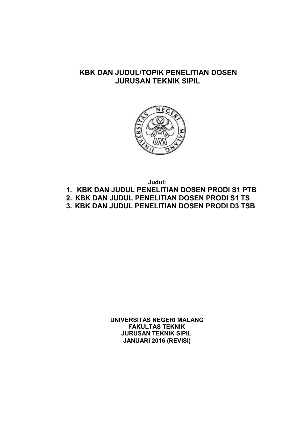 Contoh Skripsi Teknik Sipil Tentang Air Kumpulan Berbagai Skripsi