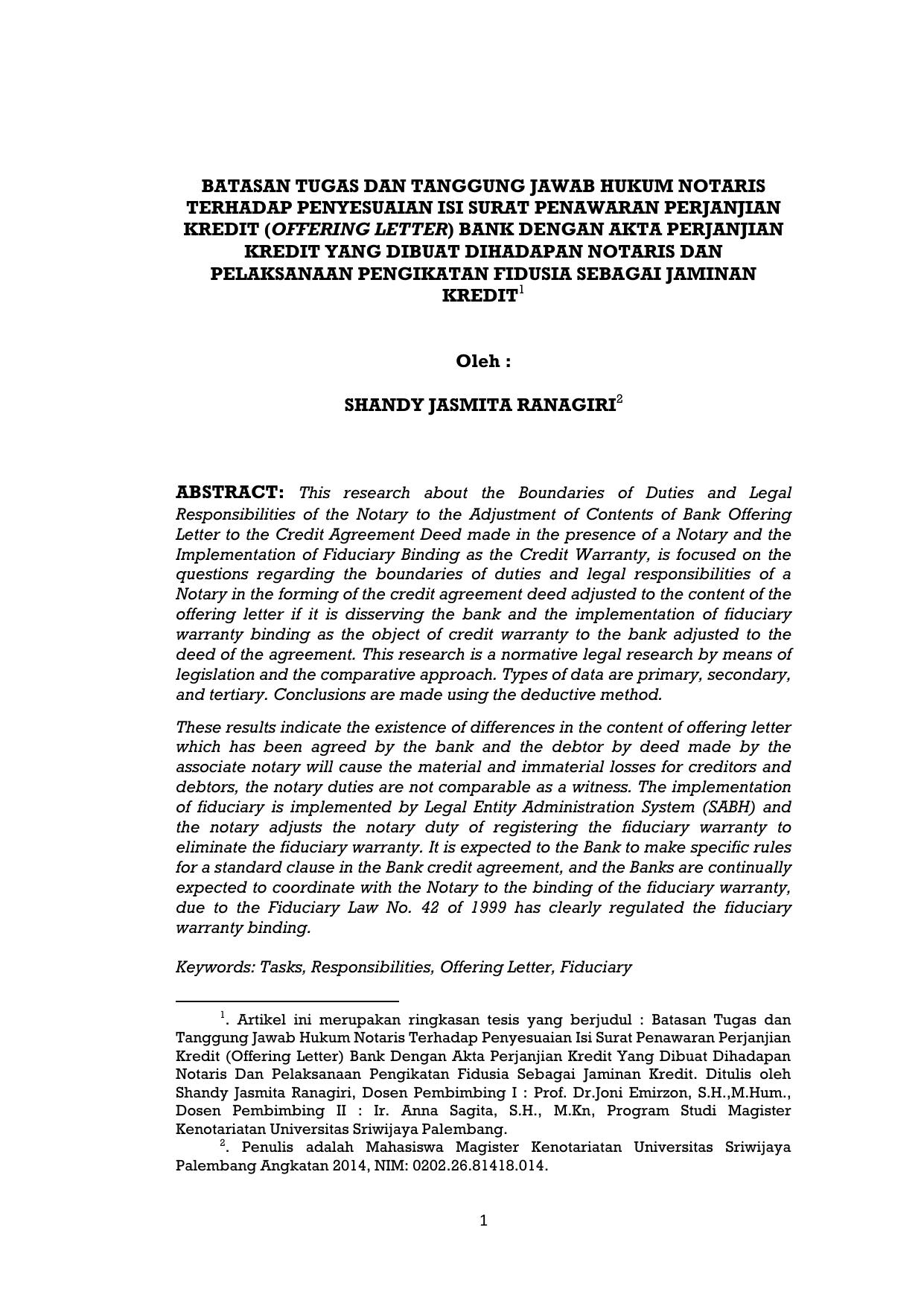 Batasan Tugas Dan Tanggung Jawab Hukum Notaris Terhadap