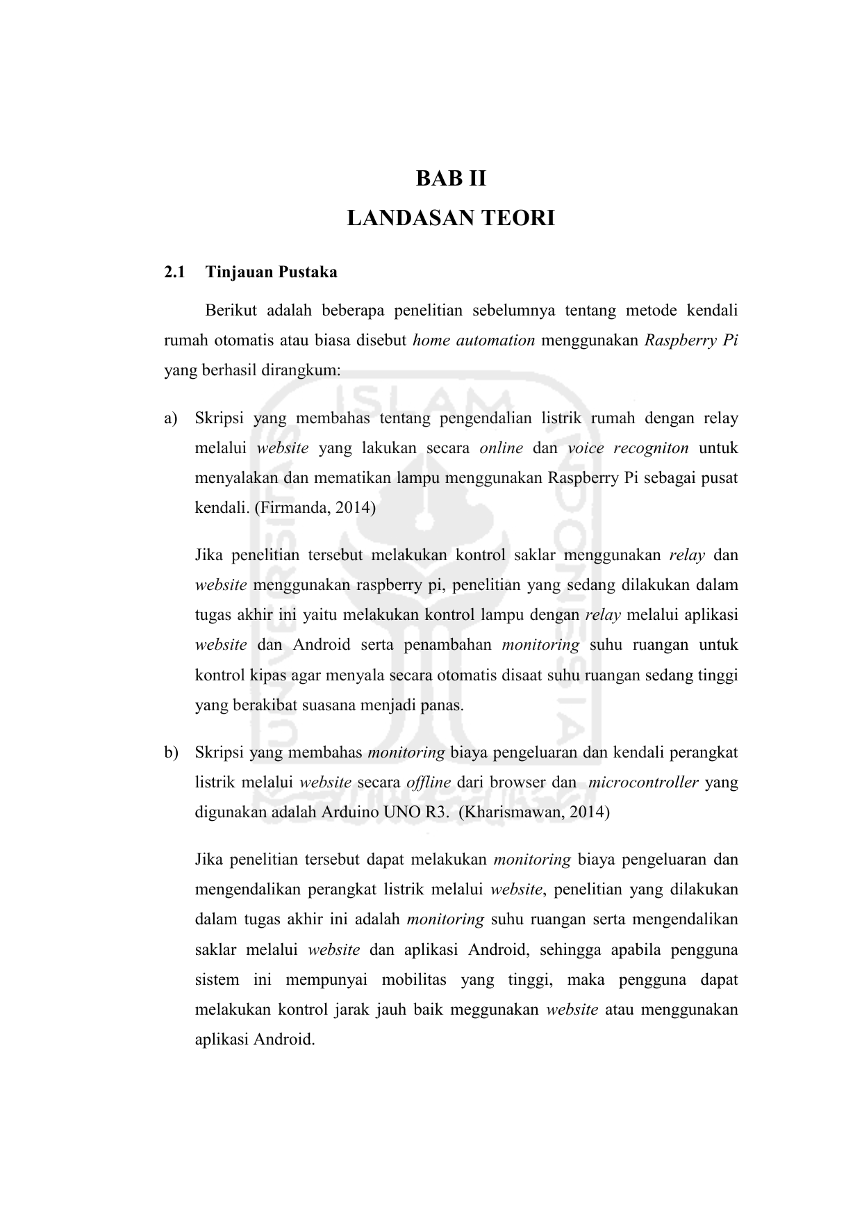 Bab Ii Landasan Teori