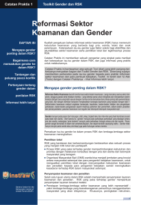 Practice Note 1 - Security Sector Reform and Gender