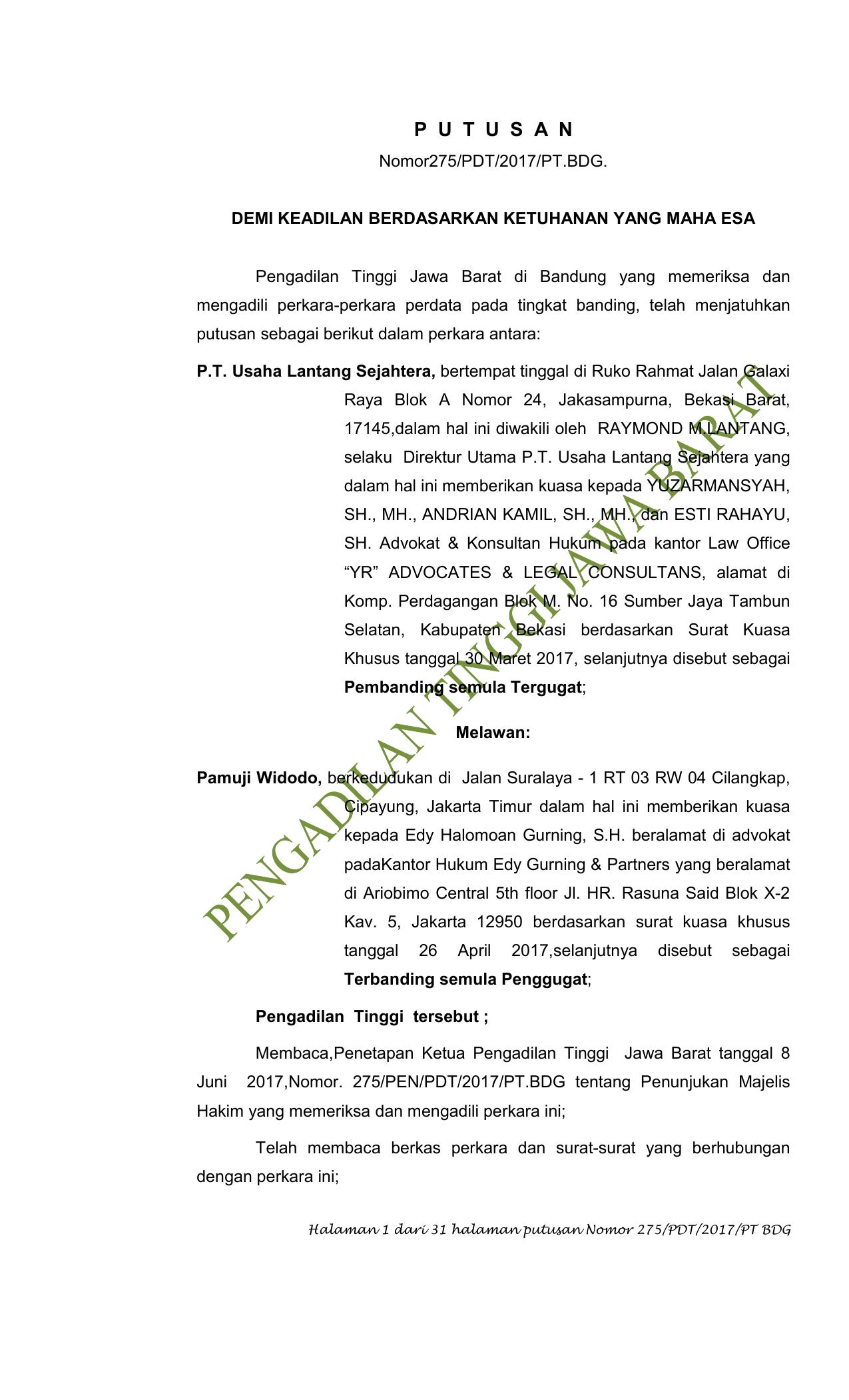Unduh File Pengadilan Tinggi Bandung