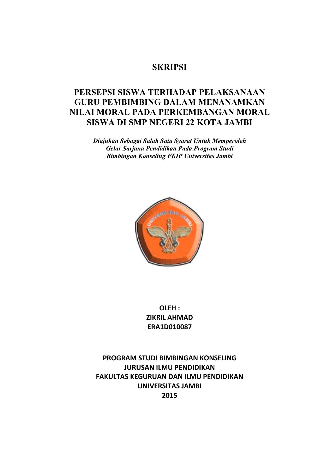 Proposal Skripsi Fkip Universitas Jambi