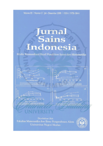 Jurnal Sa ins Indonesia - Digital Repository Universitas Negeri Medan