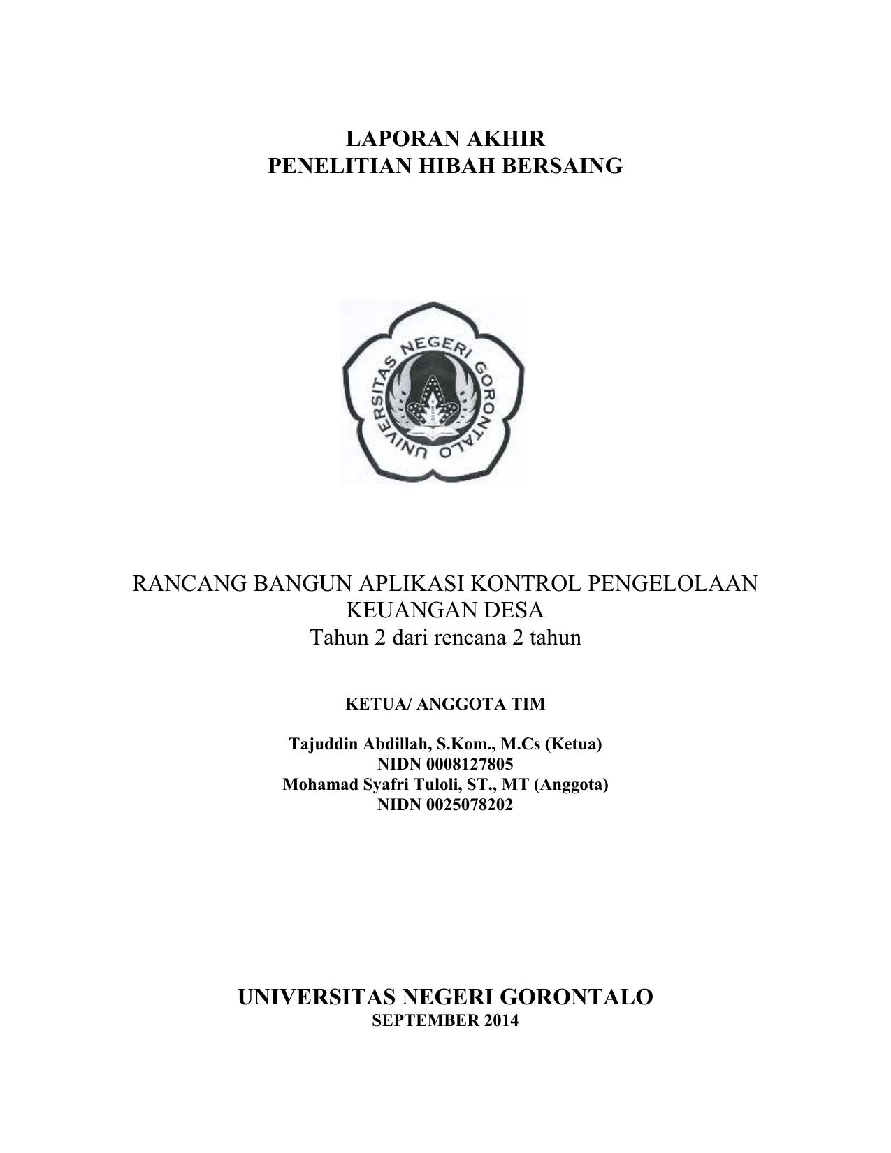 Judul Skripsi Akuntansi Tentang Dana Desa Kumpulan Berbagai Skripsi