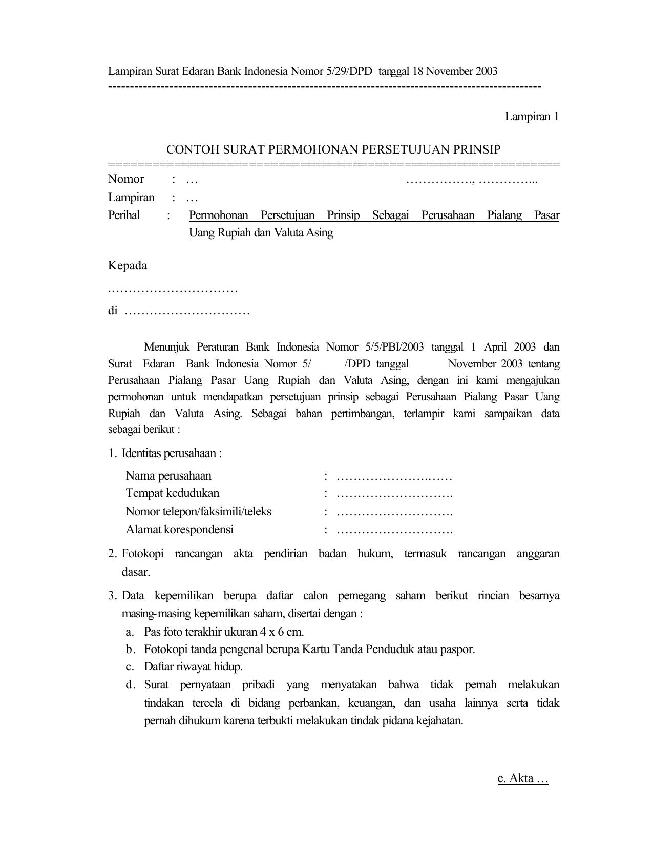 Lampiran 1 Contoh Surat Perm