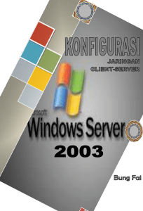 konfigurasi jaringan client-server windows server