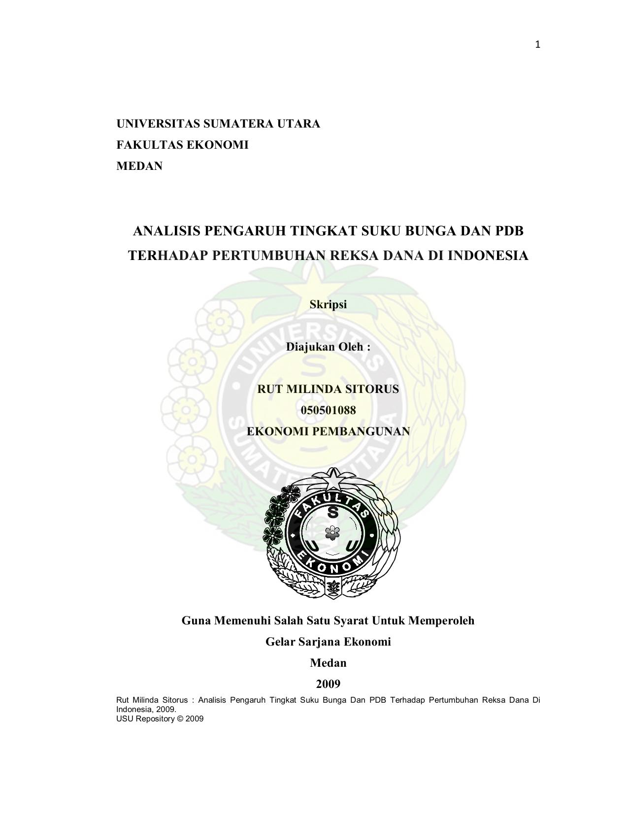 Analisis Pengaruh Tingkat Suku Bunga Dan Pdb