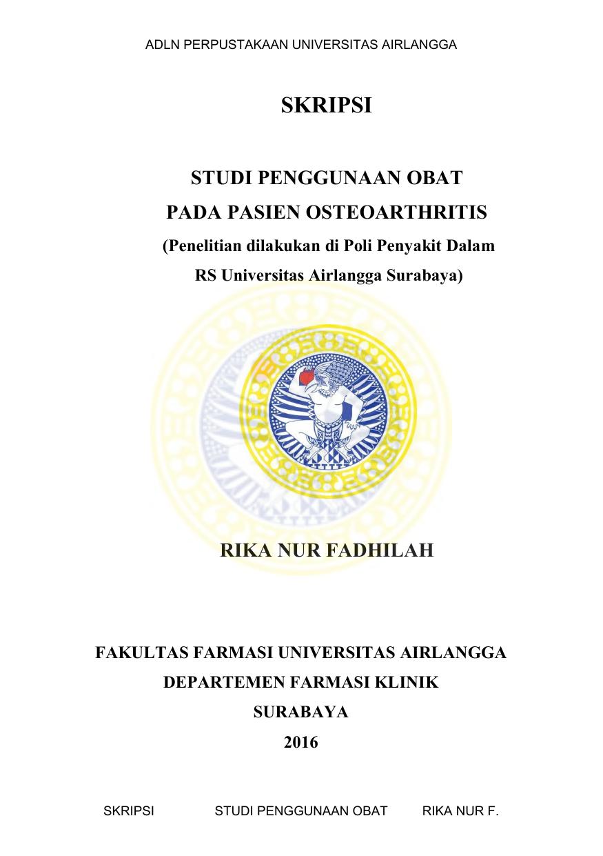 Penerapan Standar Pelayanan Kefarmasian Dalam Bidang Farmasi Klinik Di Apotek Di Kota Medan