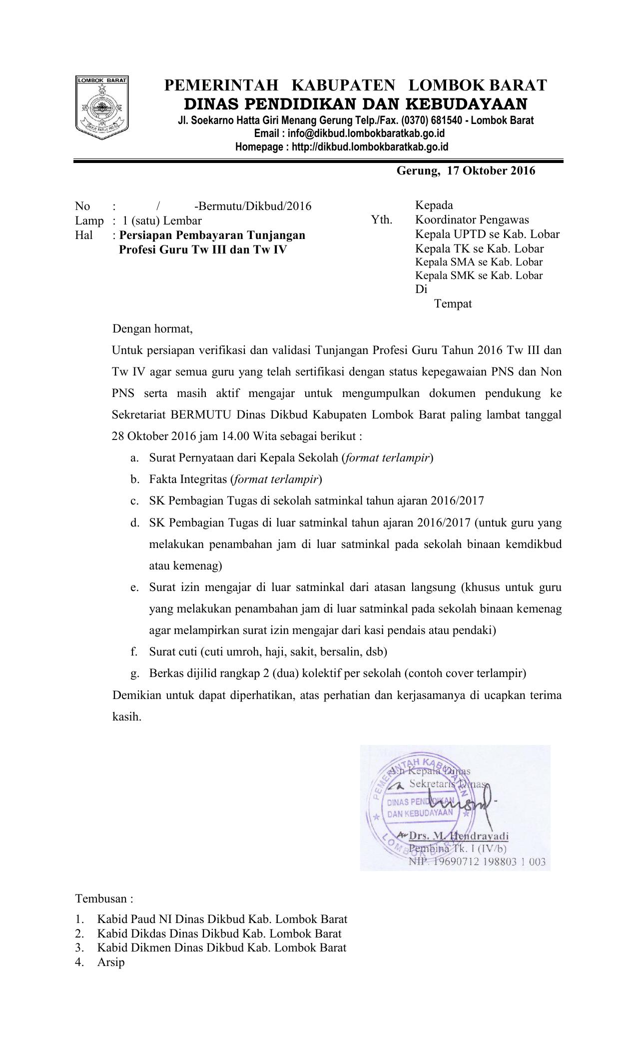 Pemerintah Kabupaten Lombok Barat Dinas
