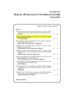 JURNAL PENELITIAN UNIVERSITAS JAMBI
