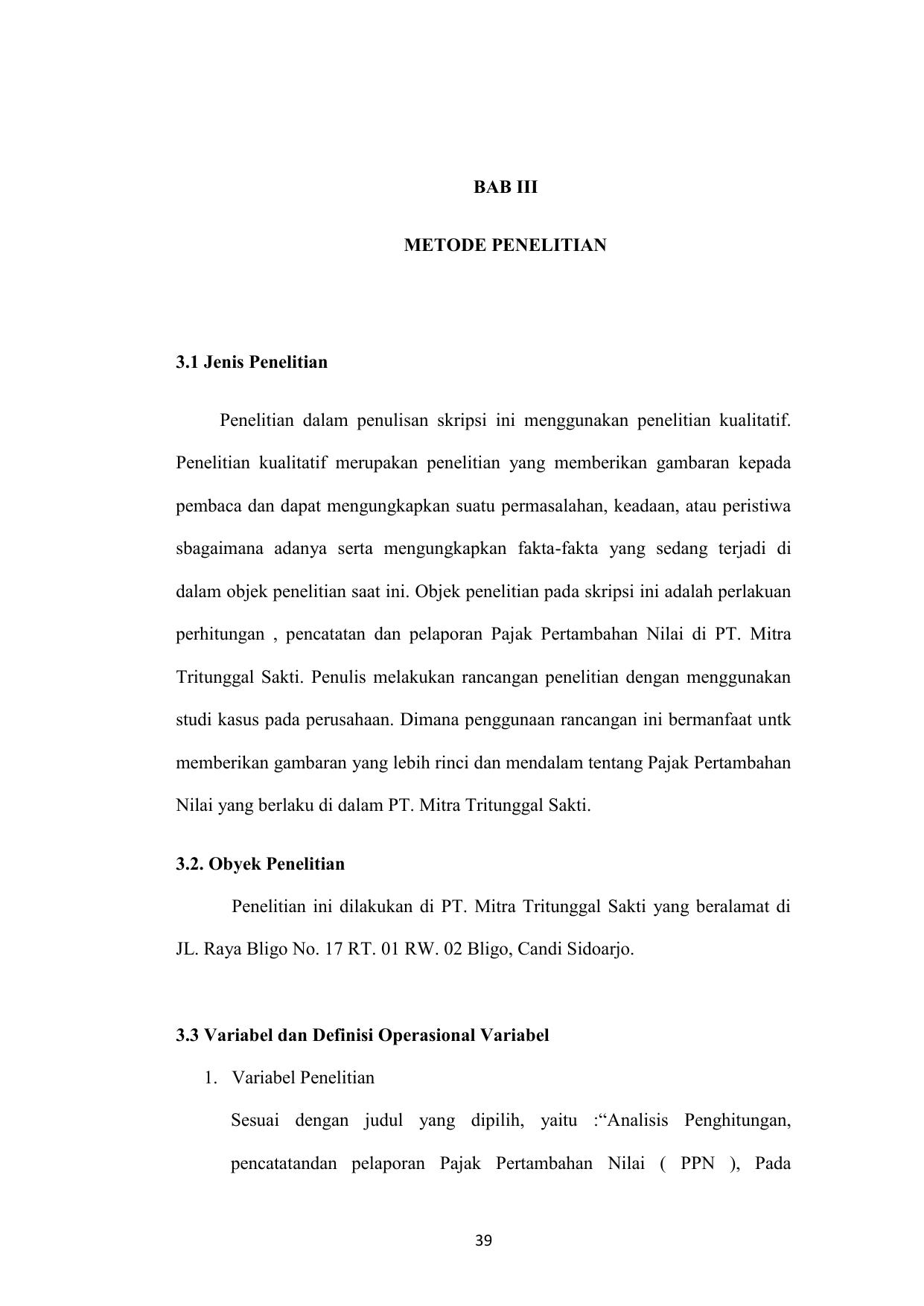Contoh Tesis Kuantitatif 3 Variabel Contoh Soal Dan Materi