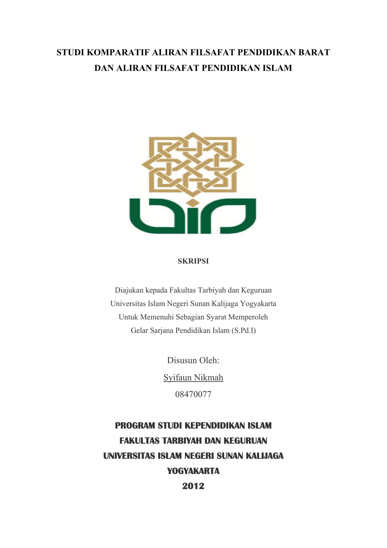 Studi Komparatif Aliran Filsafat Pendidikan Barat Dan