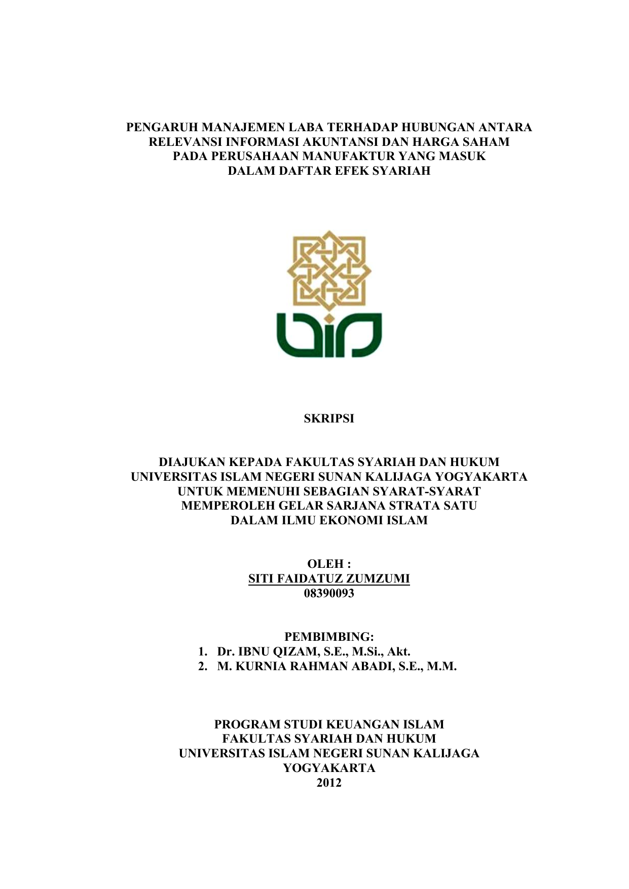 Bimbel Masuk Uin Sunan Kalijaga Yogyakarta Hukum Ekonomi Syariah