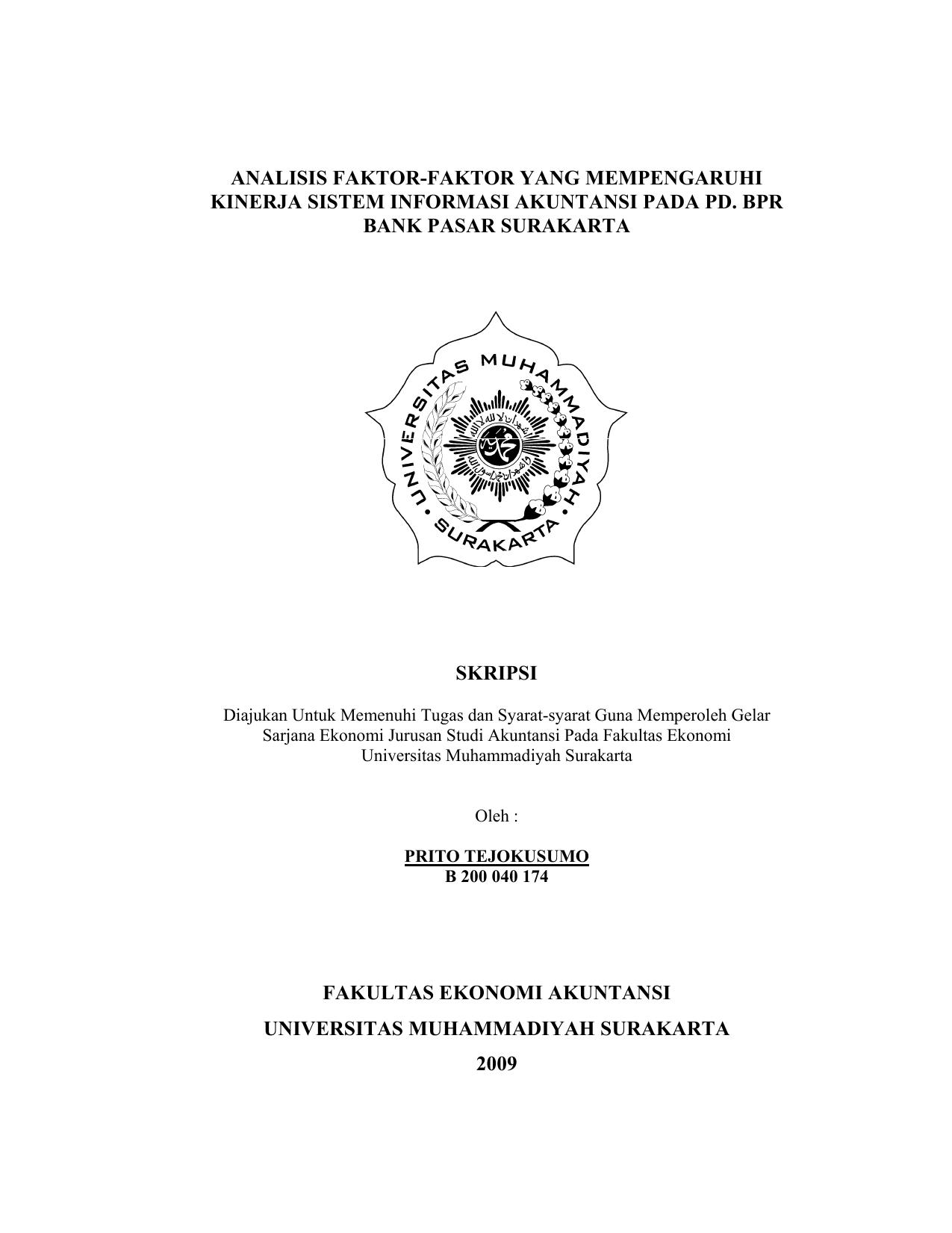 Skripsi Sistem Informasi Akuntansi Ide Judul Skripsi Universitas