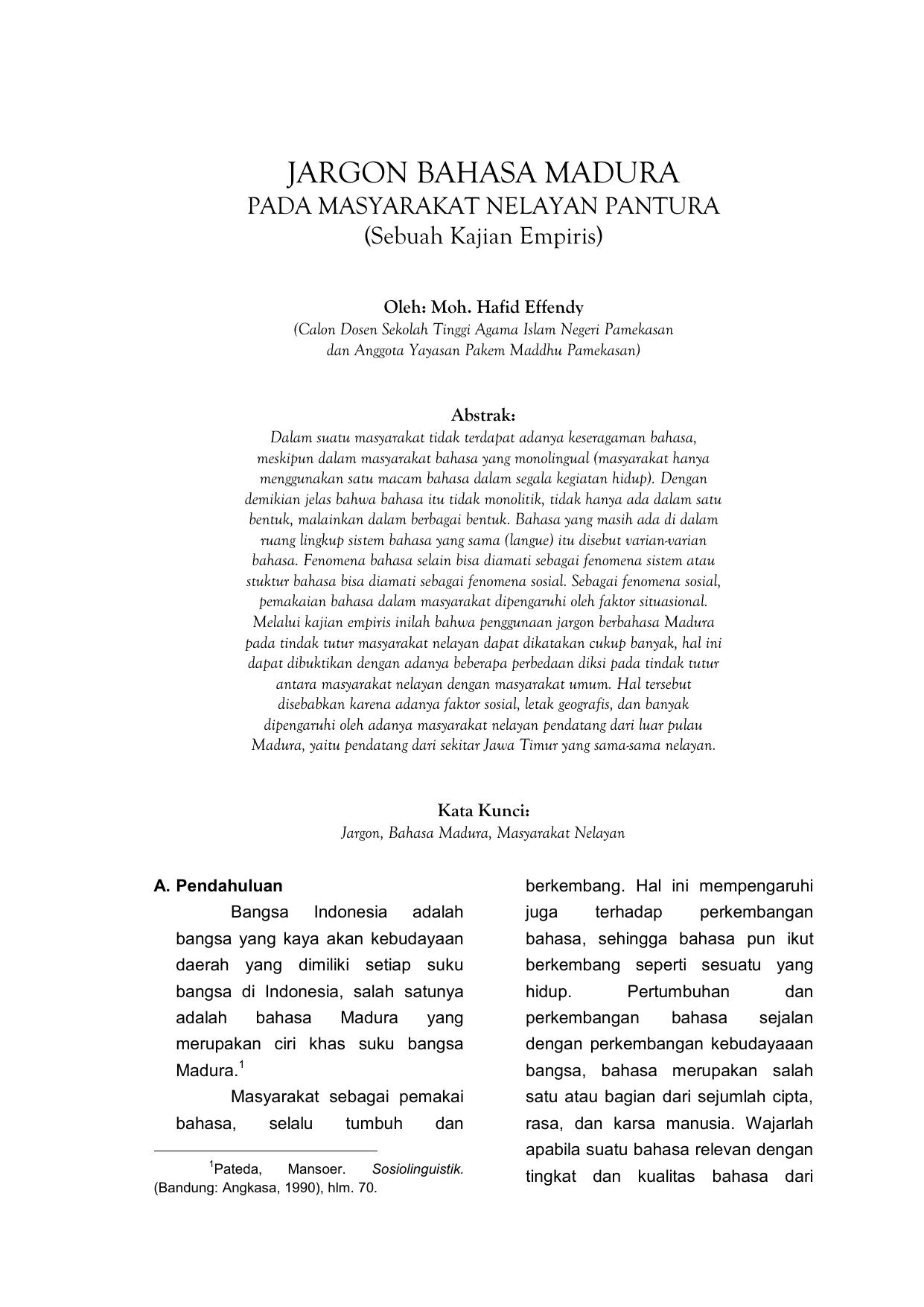 Jargon Bahasa Madura
