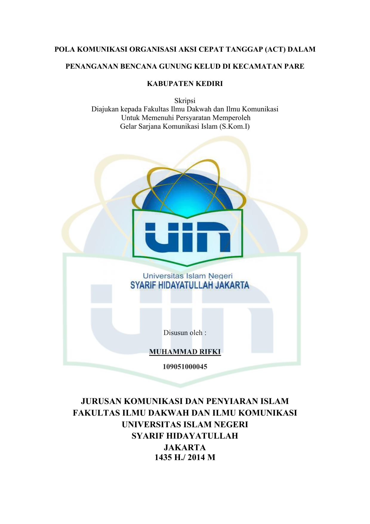 Jurusan Komunikasi Dan Penyiaran Islam Fakultas