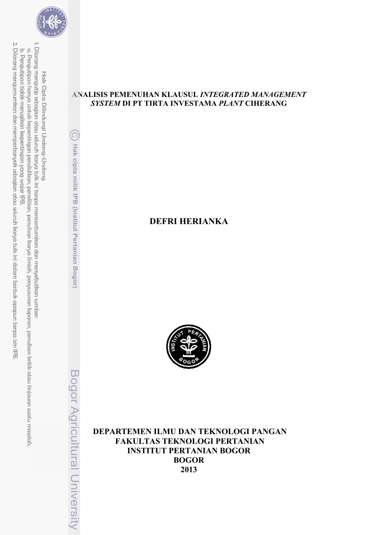 Defri Herianka Ipb Repository