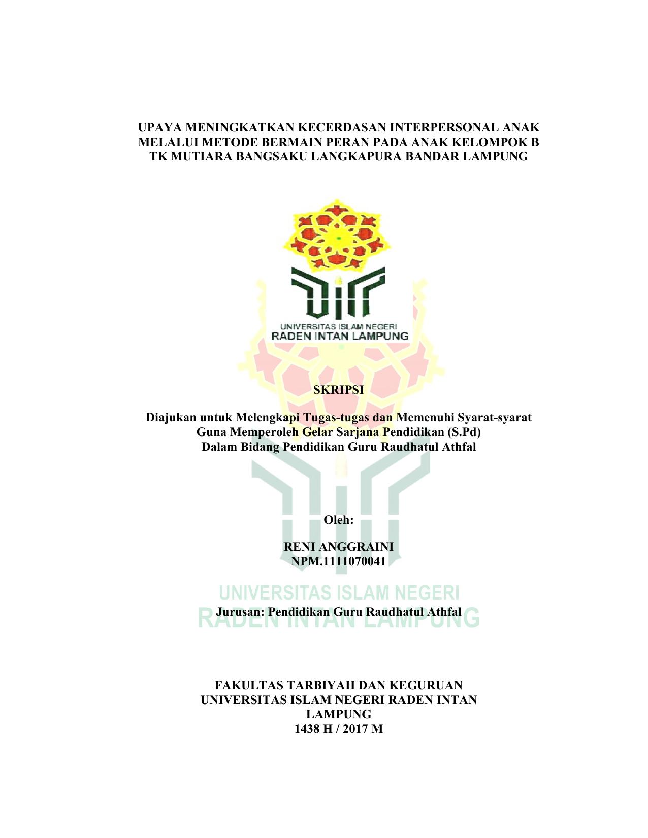 upaya meningkatkan kecerdasan interpersonal anak melalui f1aca89730