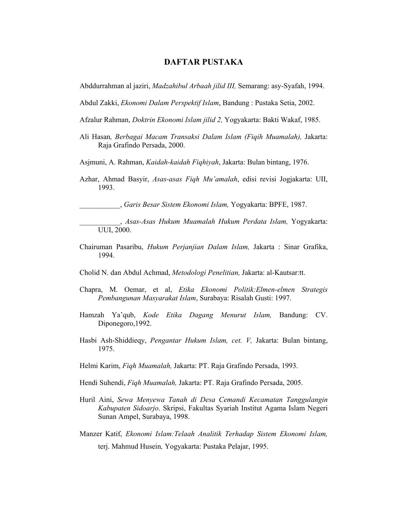 Daftar Pustaka Digilib Uin Sunan Ampel Surabaya