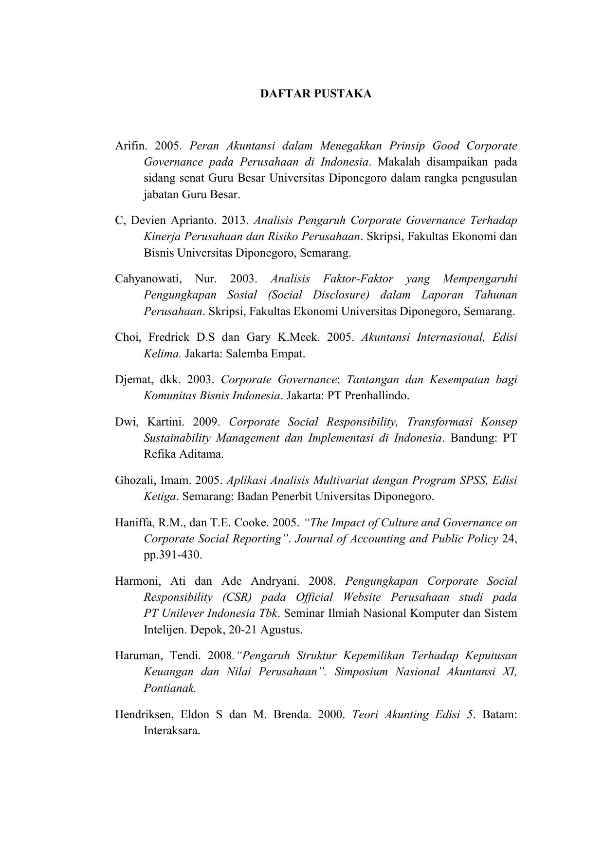 Daftar Pustaka Skripsi Akuntansi Keuangan لم يسبق له مثيل الصور