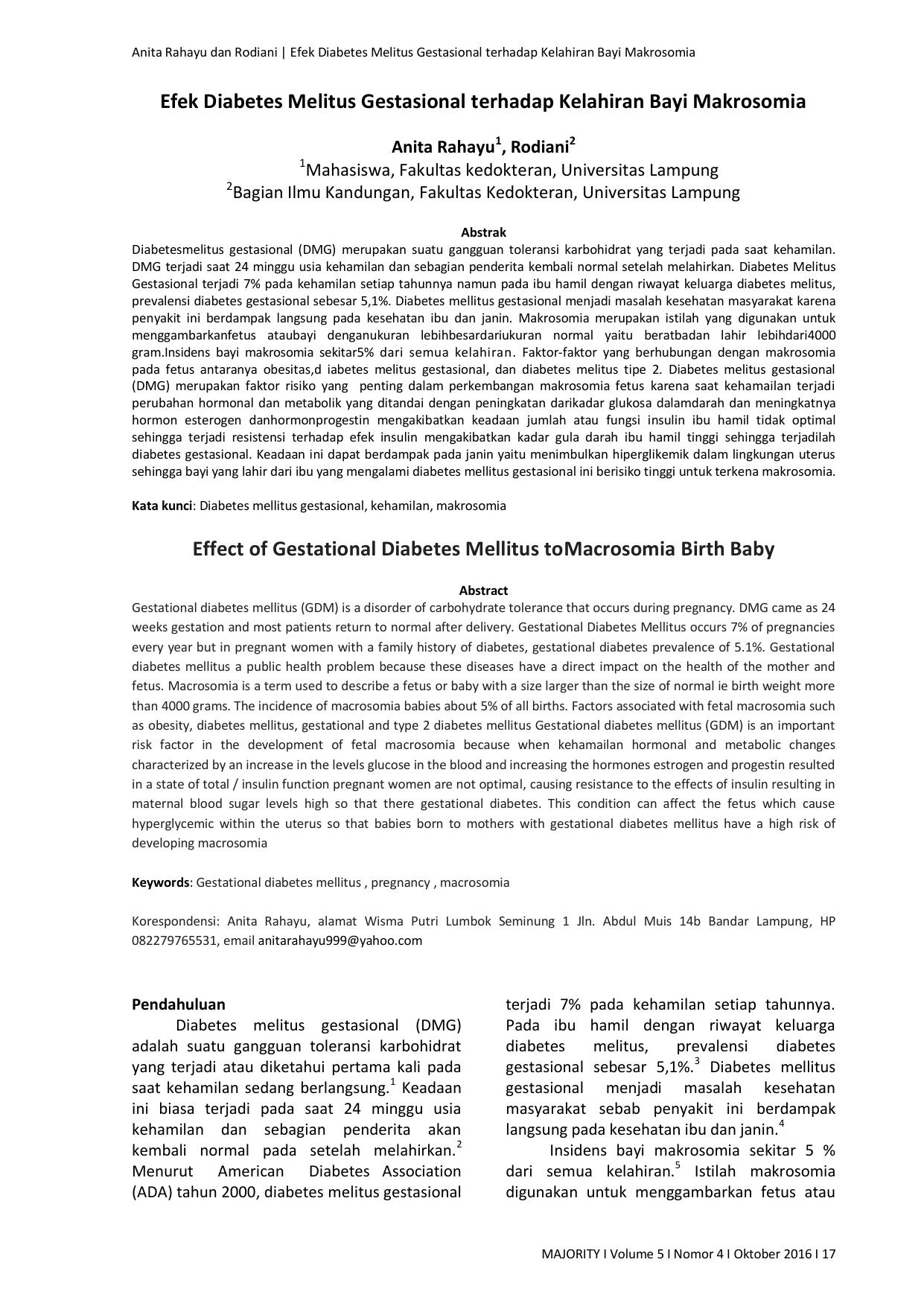 prevalensi diabetes gestational di indonesia tidak
