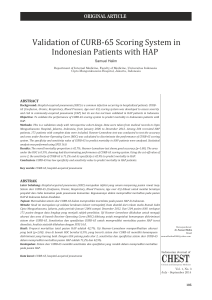 Validation of CURB-65 Scoring System in Indonesian Patients with