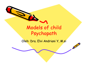 Models of child Psychopath Models of child Psychopath