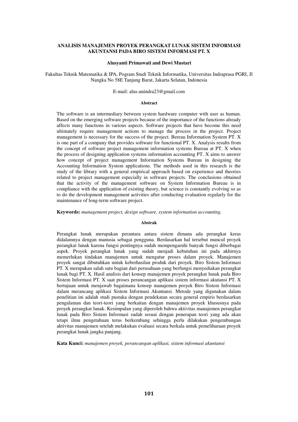Analisis Manajemen Proyek Perangkat Lunak