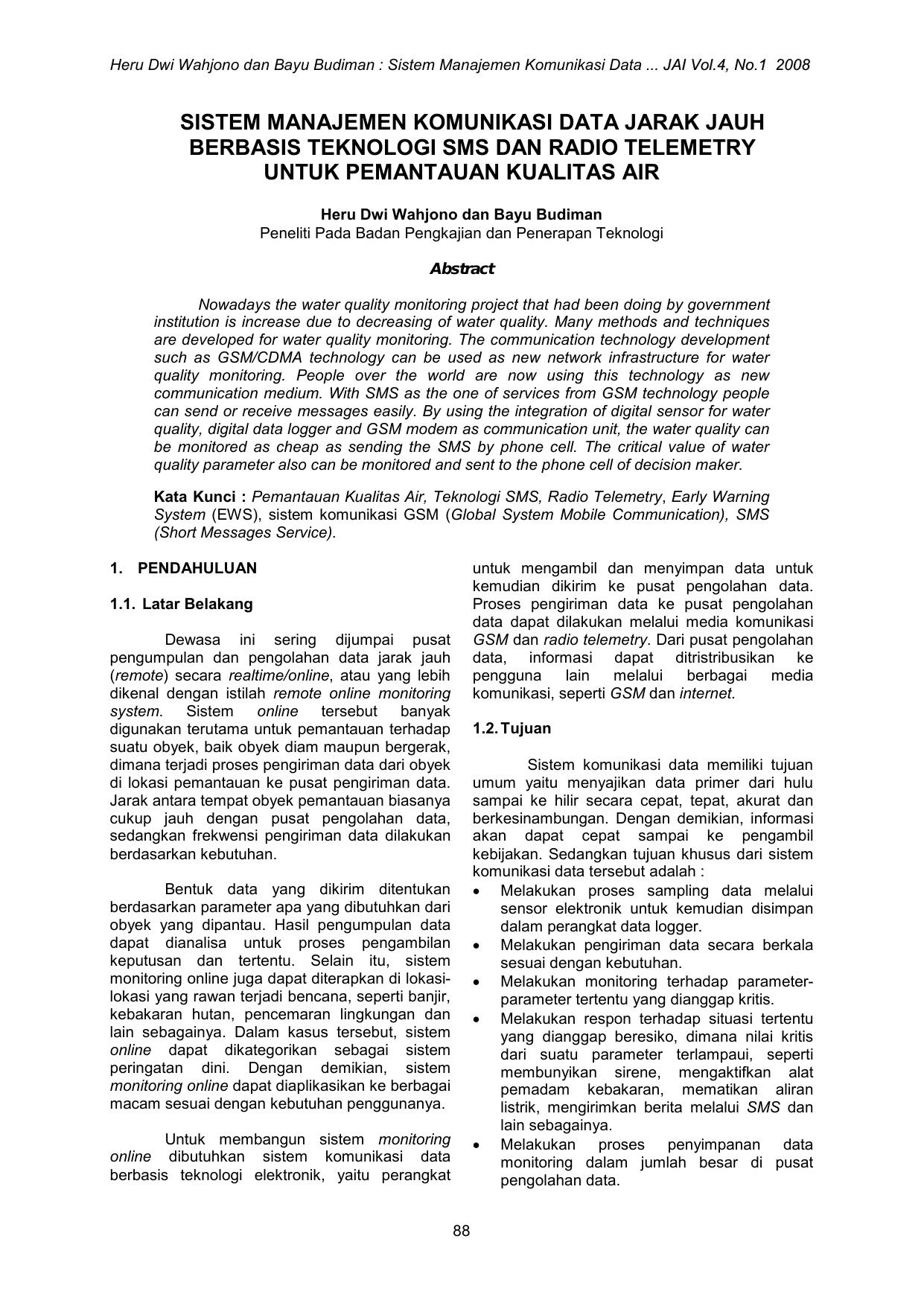 Format Penulisan Artikel Untuk Jurnal Teknologi Lingkungan