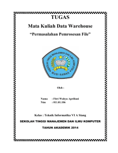 Mata Kuliah Data Warehouse