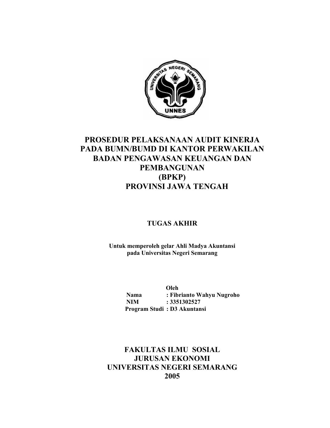 Contoh Tugas Akhir D3 Akuntansi Keuangan Guru Paud