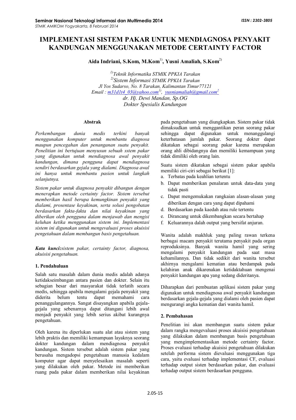 Jasa Pembuatan Skripsi Sistem Pakar Makalah Sistem Pakar Sistem Informasi Manajemen