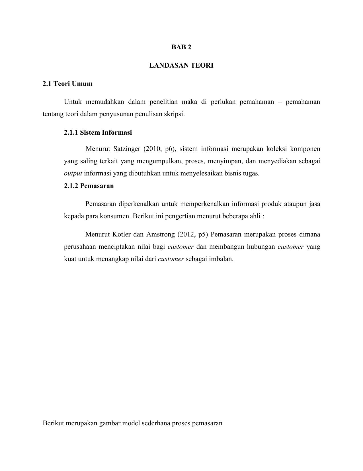 Bab 2 Landasan Teori 2 1 Teori Umum Untuk Memudahkan