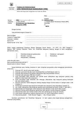 Surat Pernyataan Badan Pelayanan Perijinan Terpadu Satu Pintu